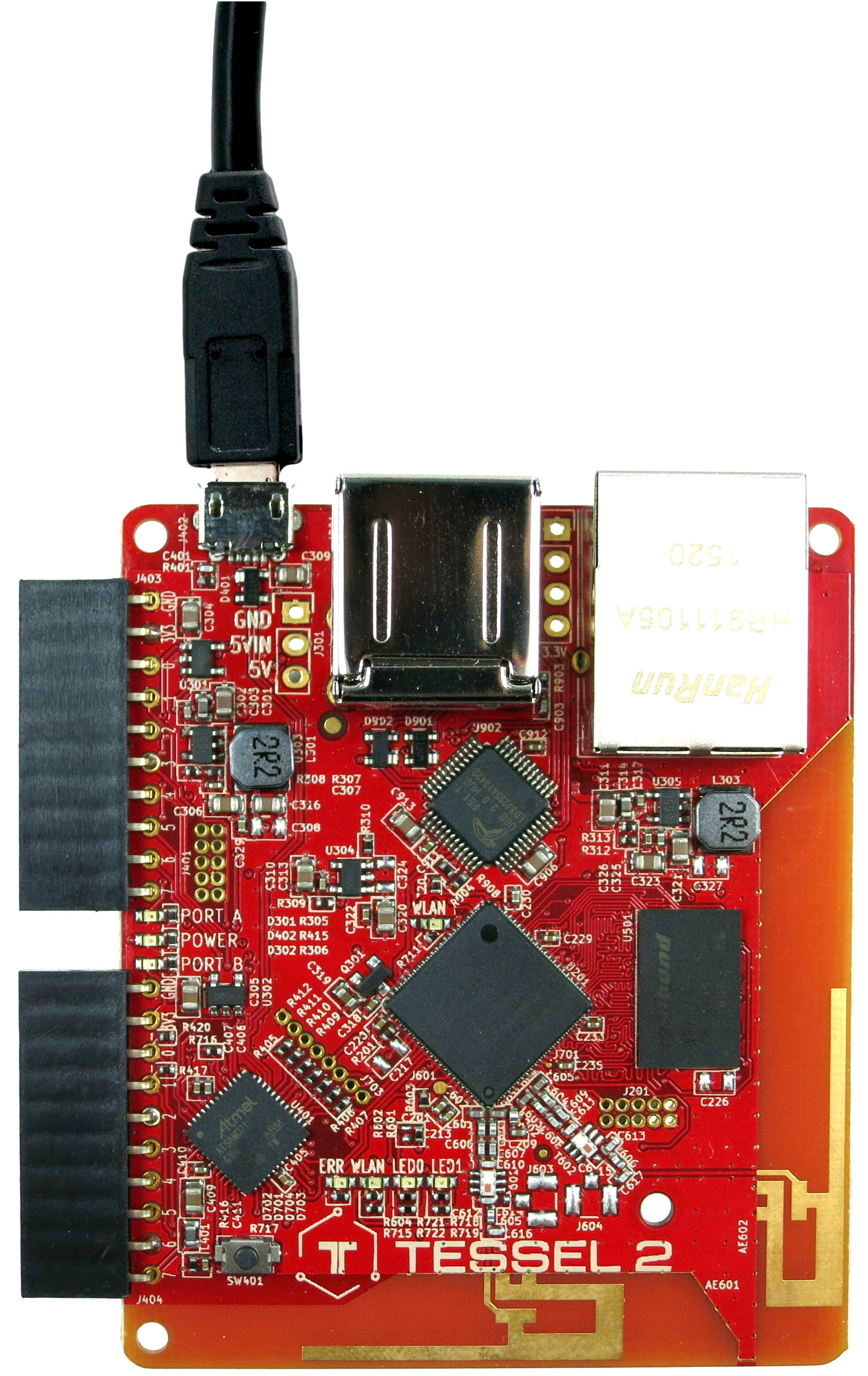 Photo of a Tessel 2 board