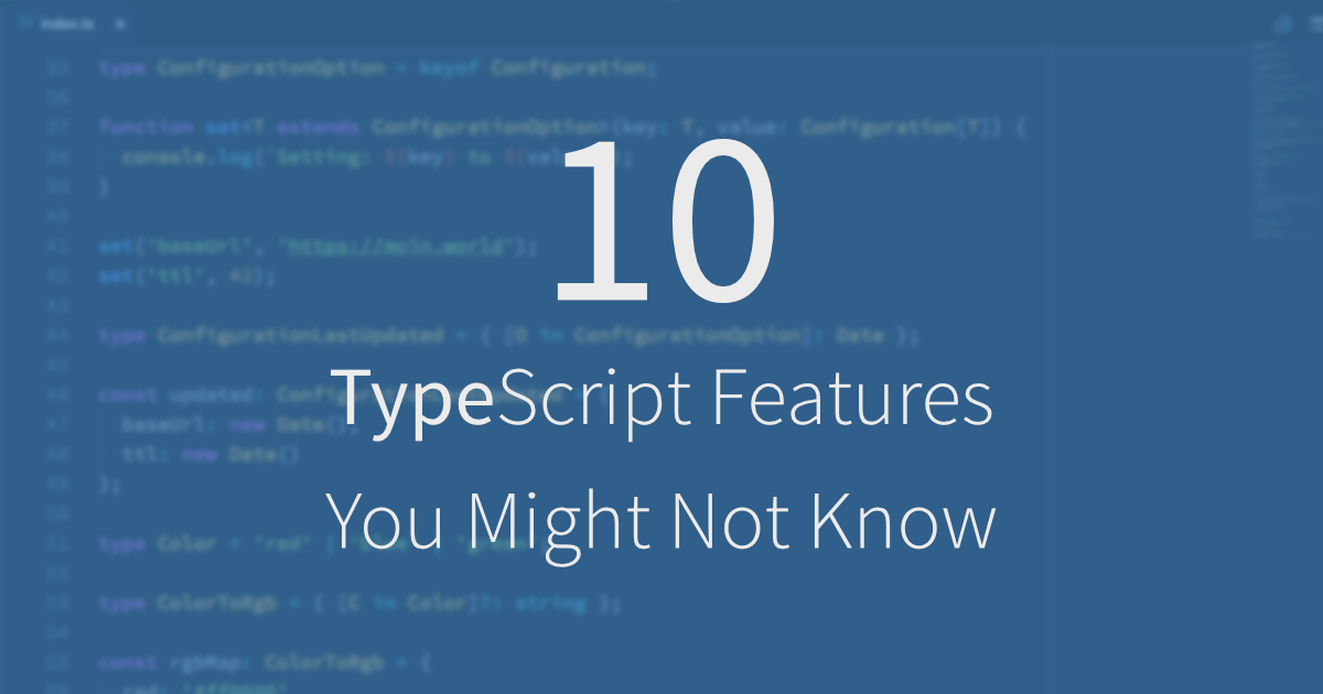 10 TypeScript Features You Might Not Know · Moin World!
